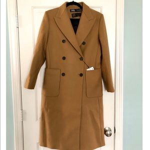 Zara Wool Long Pocket Coat